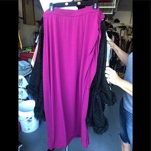 Lane Bryant Ruched Maxi Skirt